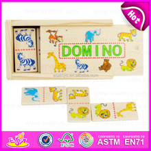 2015 High Quality Best sale Kid Wooden Domino,New design colorful Children Domino Toy,Customize Funny Wooden toy Domino W15A030B