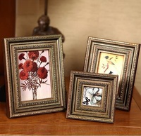 Top quality slap-up wall Decorative archaistic wooden picture Rahmen Handmade baroque Antique Natural solid wood photo frame