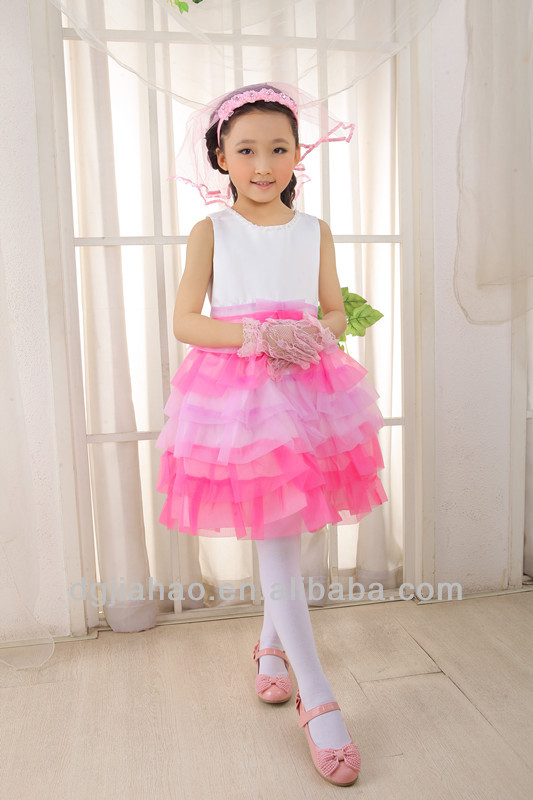 Hot!!! New fashion knee-length layered little princess dresses