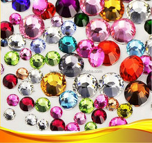ot! Best-selling Full Size AB Glass Non Hot Fix Flat Back Rhinestones Crystal Diamonds for Nail Decoration