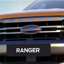 Grille Top Logo Letter For Ford Ranger Grills RANGER 3D Emblem Original Size ABS Sticker With Glue Chromium Styling 5 Color