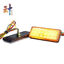 Car and Motorcycle Universal Multicolor Rectangle Reflector LED light