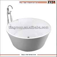 One piece acrylic round bathtub