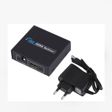 2 in 1 out multi port high speed Video HDMI splitter 1X2 with EU power plug
