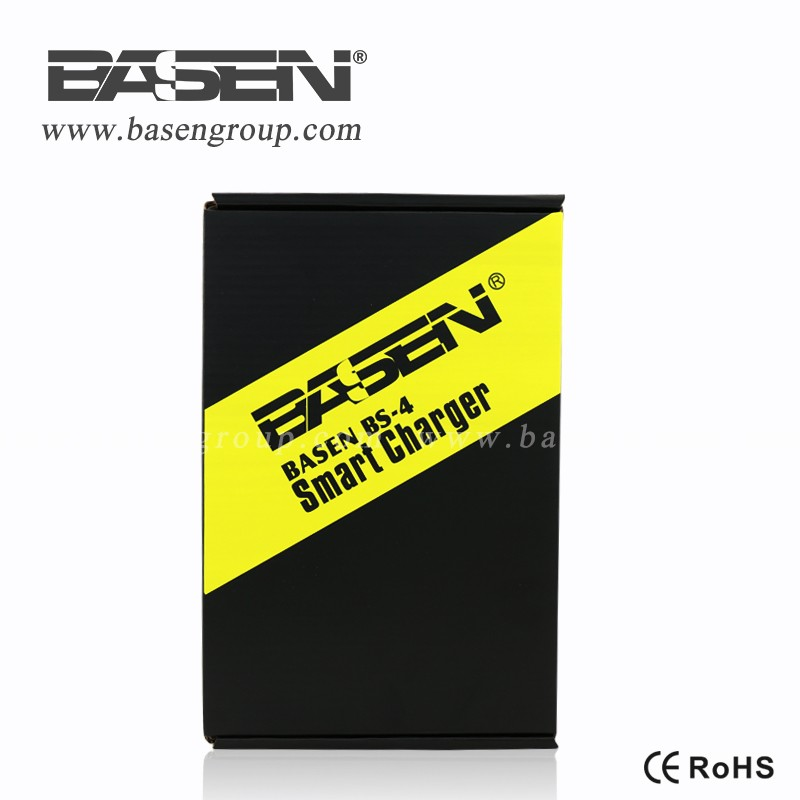 BASEN black high quality and fast charge BS4 4 slots battery charger