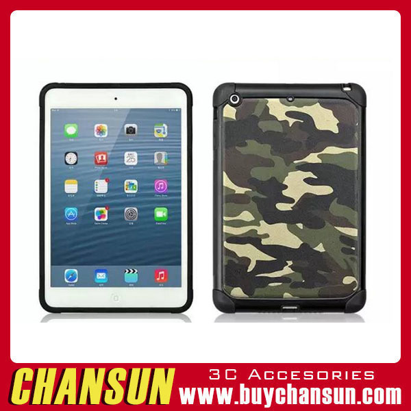 Vintage Camouflage Pattern 2 in 1 tpu pc back cover for ipad mini