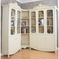 Home office furniture antique etagere corner desk and bookcase