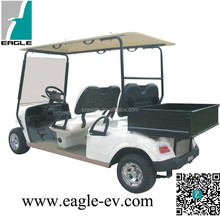 CE approved 2 seater farm utility electric vehicle, steel cargo box golf cart, EG2029H