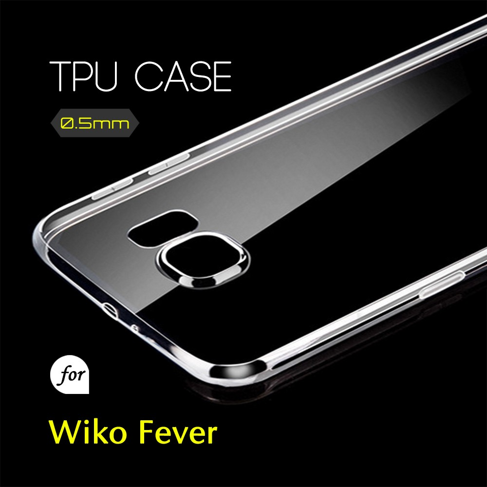 0.5mm Ultra Thin TPU Transparent Clear Protective Case for Wiko Fever
