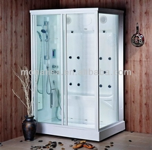 large steam shower bathroom for 2 seat
