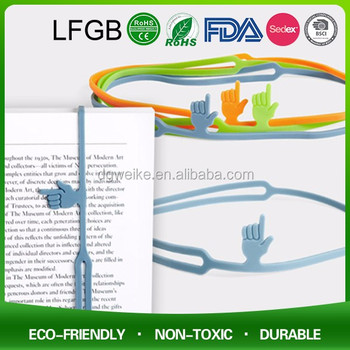 2018 New Promotional Silicone Bookmark