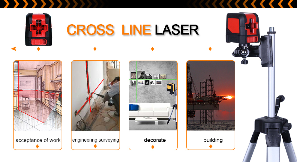 MSR20D 10mW Red Cross Line Digital Laser Level Meter