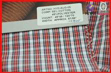 CVC soft checked CVC shirt fabric