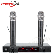 Rechargeable handheld wireless microphone dual channel
