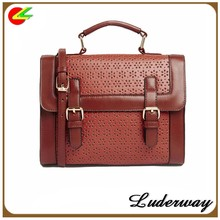 vintage style cheap wholesale woman PU leather handbag handmade