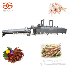 Automatic Chicken Skin Peeler Removing Blanching Cutting Machine Cleaning Processing Equipment Paw Feet Peeling Production Line