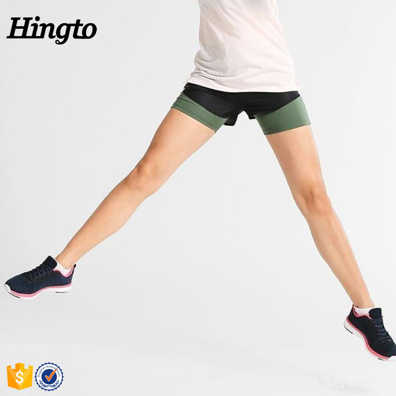 Fashionable design sports running short women gym shorts