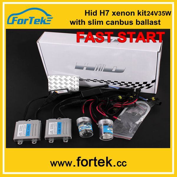 H7 xenon hid fast start ballast kit slim canbus 24V35W China factory price,Large stock
