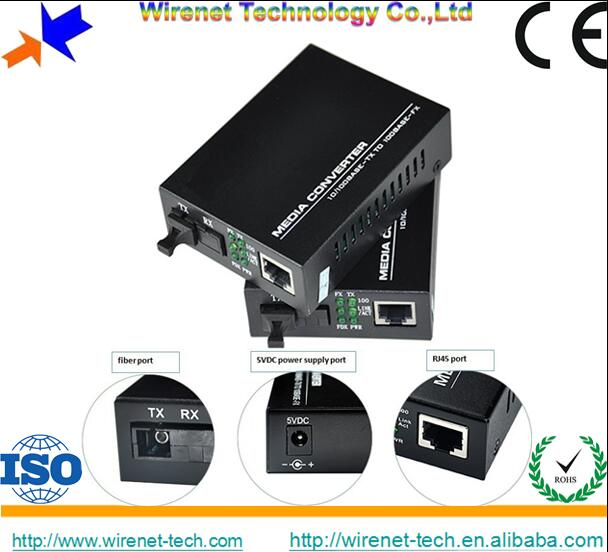 Made in chian 1000M 1310 1550nm WDM BiDi 80Km fiber Media Converter