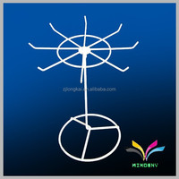 Fashion hanging rotating counter metal wire jewelry display rack