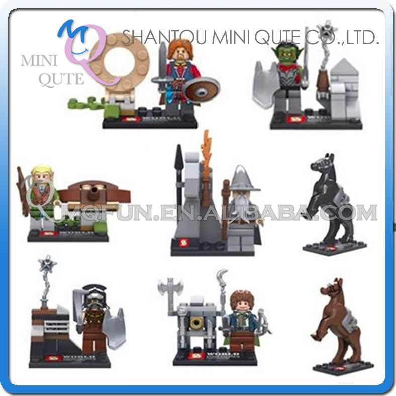 Mini Qute Senye 8pcs/set Lord of the Rings Hobbit super hero boys building block action figures educational toy NO.SY 251
