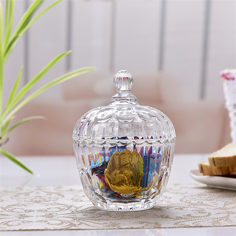 Creative Pineapple Diamonds Shape Snacks Candy Clear Glass Jar With Lid