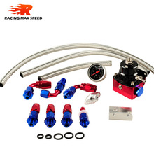 Universal Aluminum Alloy Polished&Anodize /Black&Red and Red&Silver for choose IP-FPR-005 fuel pressure regulator