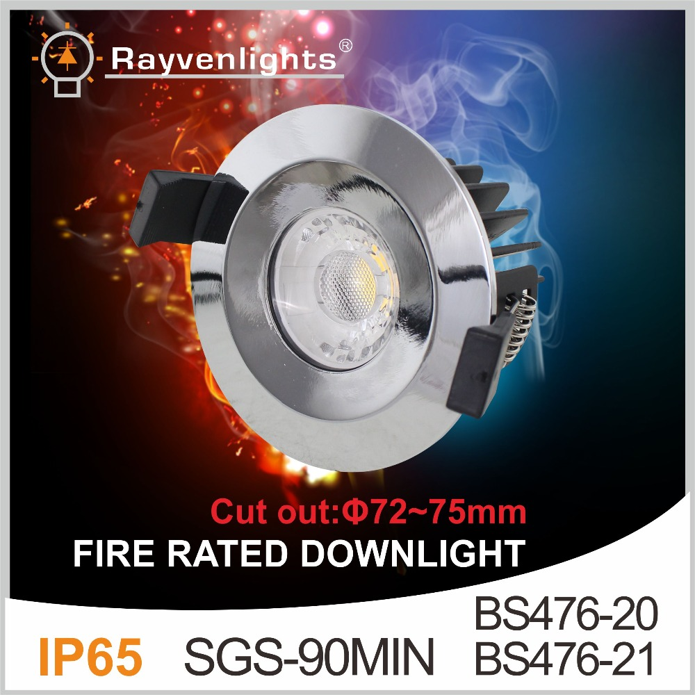 IP65 LED 8W Fire Rated Downlight c/w Dimmable Driver