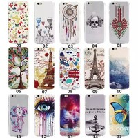New Arrival Fantacy Color Painting Cartoon Pattern Ultrathin TPU Phone Case for Iphone 6 Protective Cell Phone Cover Case