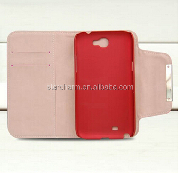 New Leather Separable Wallet Case for samsung galaxy note2