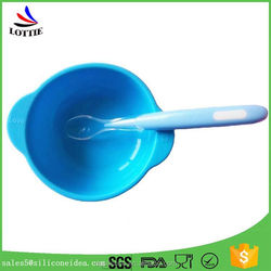 Low price FDA baby silicone spoon BPA free silicone food safe baby spoon
