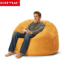 Wholesale microsuede cover large foam bean bag chair,big soft fashion beanbag
