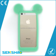 New Arrivals For Disney Style 3d Mickey Mouse Ears Silicone Bumper Phone Cover Case For Iphone 6/6ps