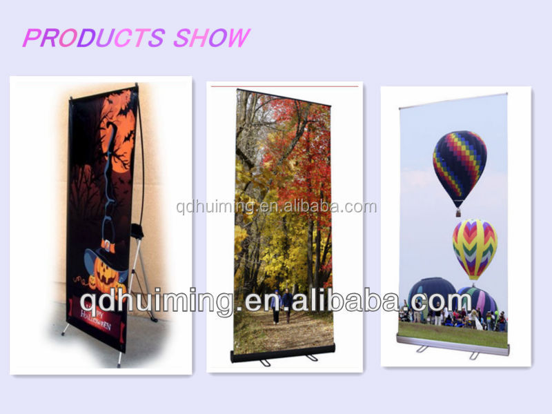 Customized Exhibition roll up banner 85*200 cm Size Motorised Roll Up Banner Stand