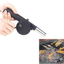 Outdoor Camping BBQ Fan Air Blower Hand Crank Powered for Picnic Barbecue Fire
