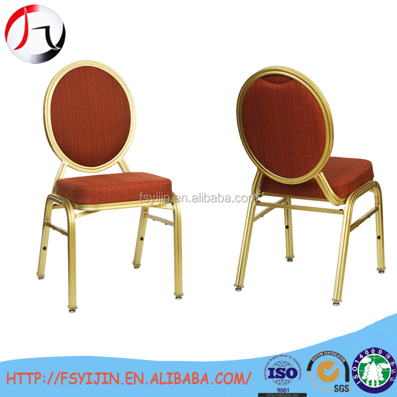 Round back metal dining chair for banquet hall