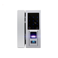Smart Office Entrance System Remote Control Password Fingerprint Biometric Glass Door Lock