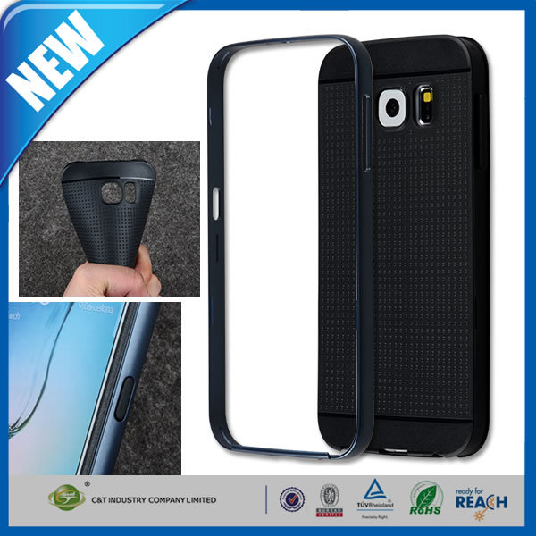 C&T Dual Layer PC+TPU Bumper Protective Cover for Samsung Galaxy S6 SM-G920