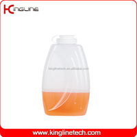 BPA Free PP 2L round clear plastic water jug no leaking with lid OEM (KL-8015)