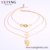 Xuping fashion 18k gold gemstone stone jewelry chain necklace, new designs jewellery pendant choker necklace