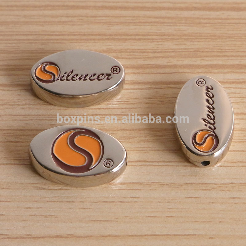 Factory price metal custom logo bead sterling silver