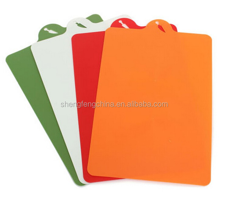 non-slip plastic cutting board,4 pcs cutting board set