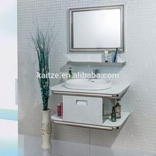 Hanging White High Gloss Bath Vanity Modern Bathroom Cabinet Furniture