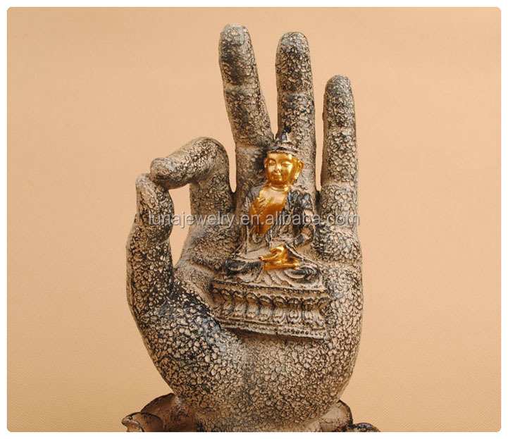 Wholesale buddha candle holder ,Lotus decoration buddha hand statue
