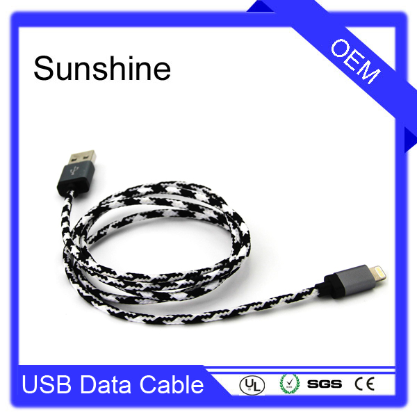 Latest Support iOS9 for phone 6 usb cable 8pin two sided usb cable