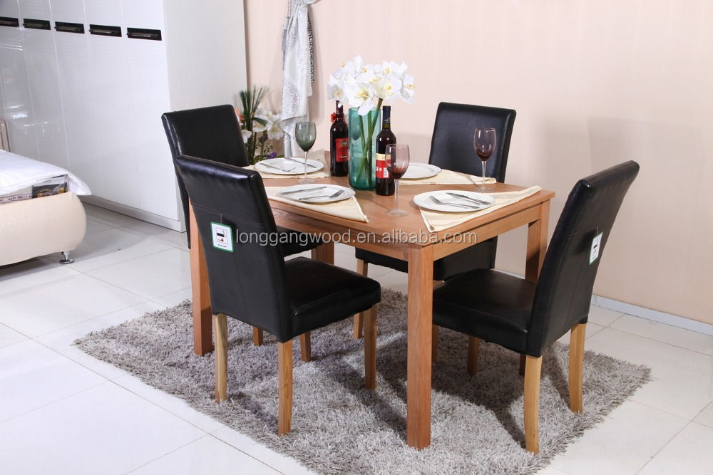 MDF+Birch Veneer top table wooden dining table and chair set