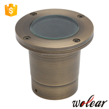 High quality LED underground lights with polish brass or bronze