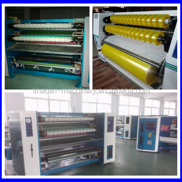 High efficient bopp self gum tape coating machine with lowest price