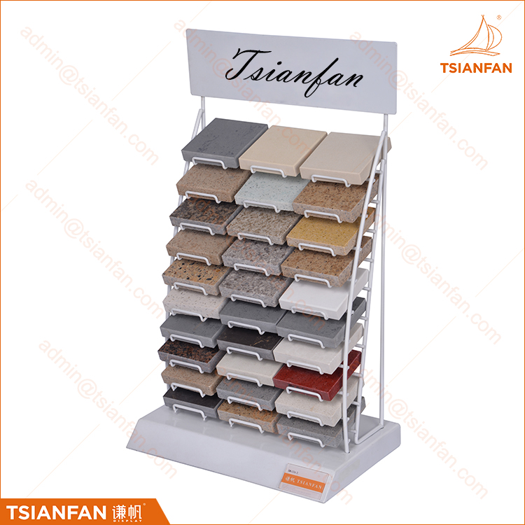Custom Flooring Stand Small Sample Displays Rack Stone Display