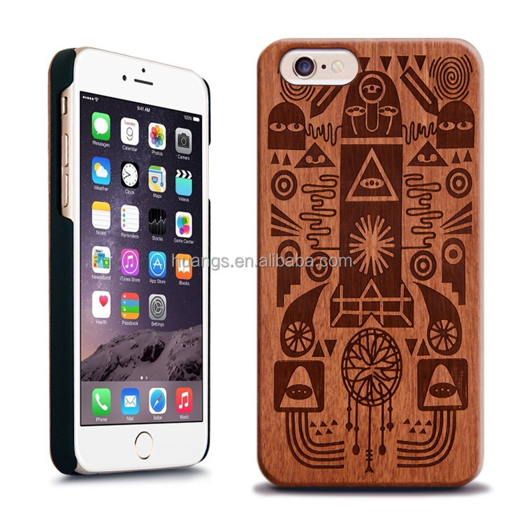 Customized design Wood + PC cell phone case for iPhone 6 6s 6s plus 5se case
